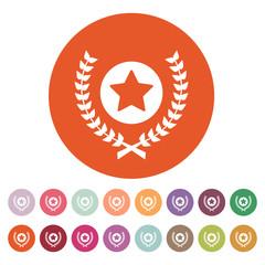 Award icon. Priz symbol. Flat