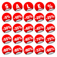 "Sticker ""Sale"" Minus Red"