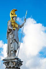 Statue of Pallas Athena Brunnen near Parliament building in