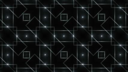 black and white kaleidoscope light, loop