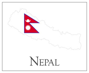 Nepal flag map