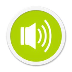 Runder grüner Button: Audio
