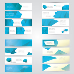 modern vector banners with polygonal background