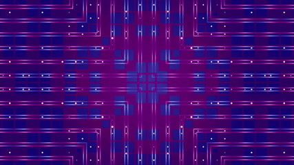 kaleidoscope blue squares on a purple background, loop