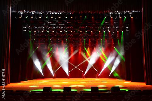 Spoed canvasdoek 2cm dik Licht, schaduw Concert stage