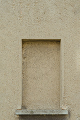 frame of a hidden window in cement wall