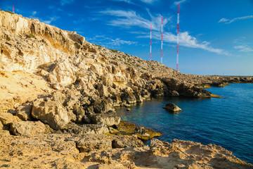 rocky coastline at Cape Greco