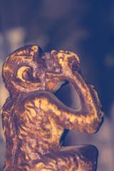 Retro Monkey Statuette