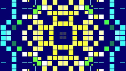 kaleidoscope of colored squares, loop
