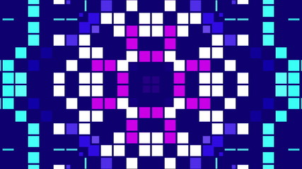 kaleidoscope of colored squares, loop