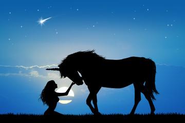 unicorn and girl