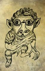 Weird Monkey Sketch