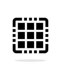 Multi Core CPU simple icon on white background.