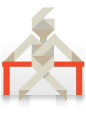 origami paper figure icon