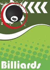 Vertical billiard poster