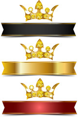 Crowns and ribbons