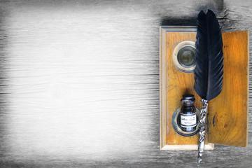 vintage ink writing set