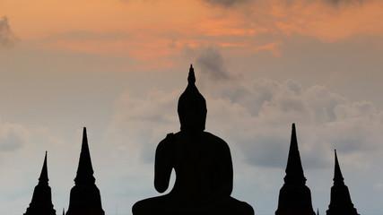 Tenple on twilight time in Thailand Asia