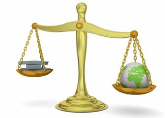 Balance, Money and World - 3D