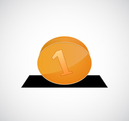 coin drop icon  3d