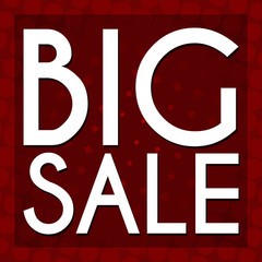 Big Sale Red Halftone Background