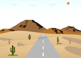 砂漠の道路