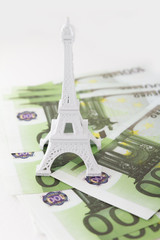 money and the Eiffel Tower
