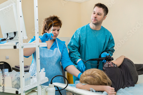 patient at a reception at the endoscopist - 81863973
