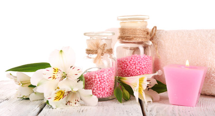 Spa still life with flower and candle