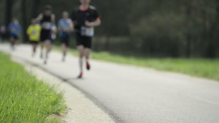 Runners at marathon race