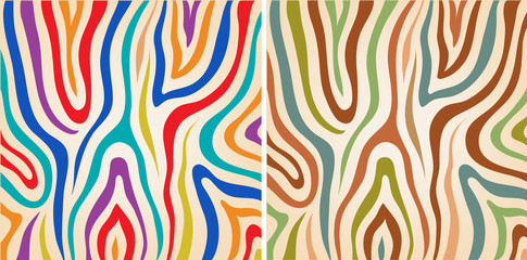 vector set colorful zebra textures,