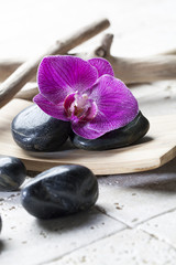 black pebbles for massage and relaxation