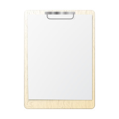 Blank white page clip