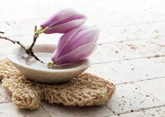 magnolia flowers for soft exfoliation