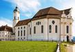Leinwanddruck Bild - Wieskirche bei Steingaden