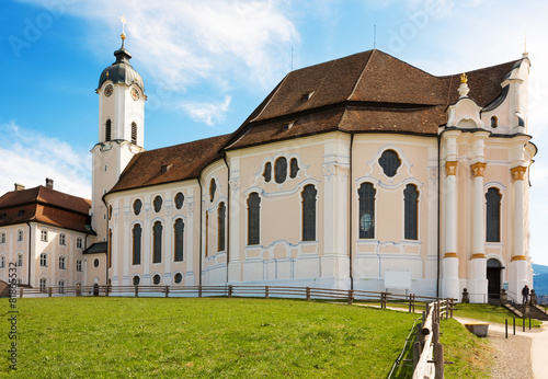 Leinwanddruck Bild Wieskirche bei Steingaden