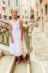 Ballet, ballerina - young and beautiful ballet dancer in Venice,