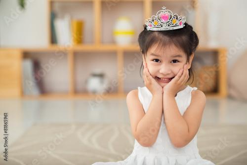 Leinwanddruck Bild Little princess
