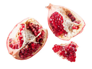 piece of pomegranate isolated
