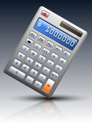 Vector calculator on dark background