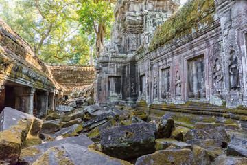 Ancient ruins of Angkor wat temple in Siem Reap, Cambodia. It ha