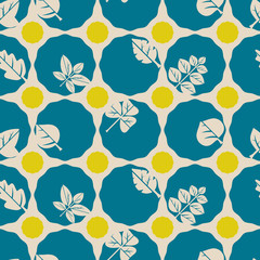 Seamless background with different leaves for your design