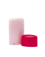 Pink bottle with deodorant