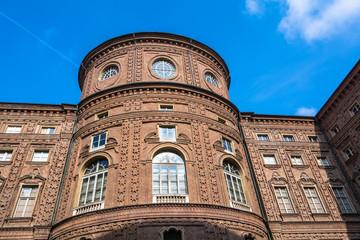 The rear facade of Palazzo Carignano, Turin