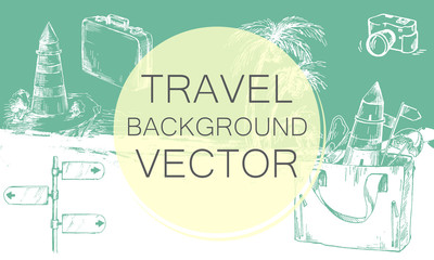 Travel background color.
