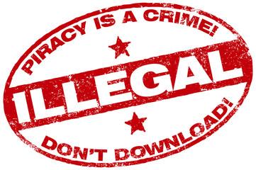 piracy warning stamp