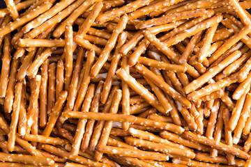 Plenty Salted Baked Pretzel Sticks for Backgrounds