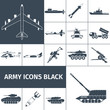 Army Icons Black - 81870771