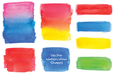 Various watercolor shapes