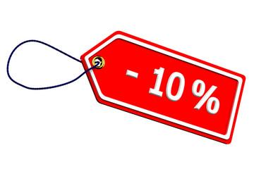 Discount ten percentages tag